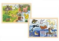 Holzpuzzle Polartiere und Tierkinder