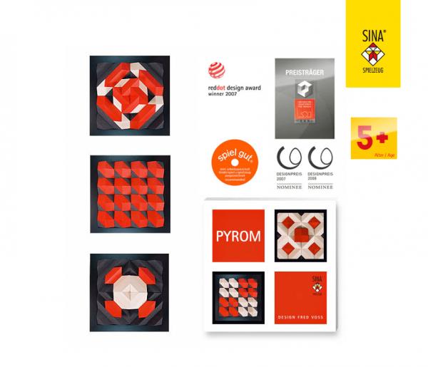 Geometrie Baukasten PYROM rot