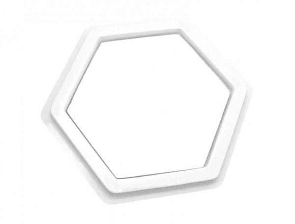 Stempelkissen-blanko-Hexagon