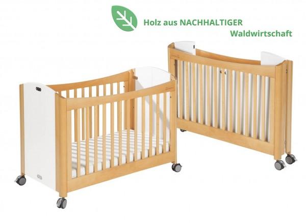 Klappbares Gitterbett aus Buchenholz