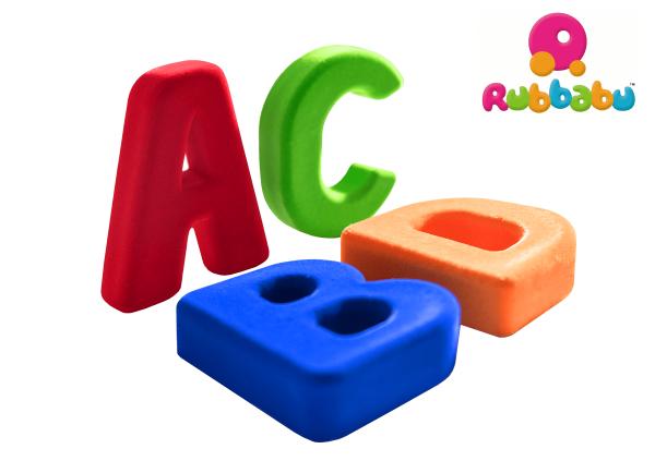 Magnetbuchstaben A - Z aus Naturkautschuk