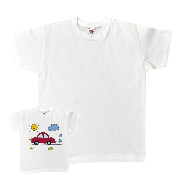 Baumwoll T-Shirt weiß, Gr. 116