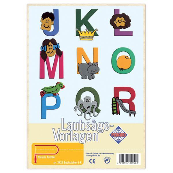 Laubsägevorlage-Buchstaben-J-R