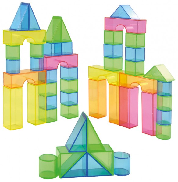 Transparente-Bausteine-Set