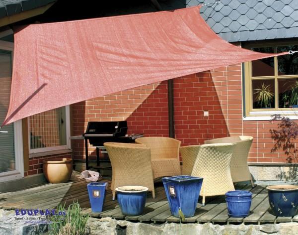 Sonnensegel mit 90 % UV-Schutz 3 x 3 m, rostrot