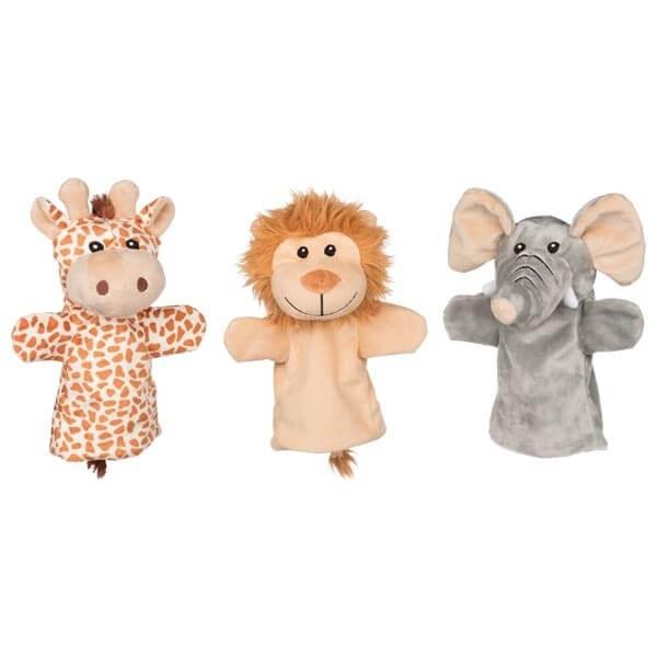 Handpuppen-Set-Wilde-Tiere