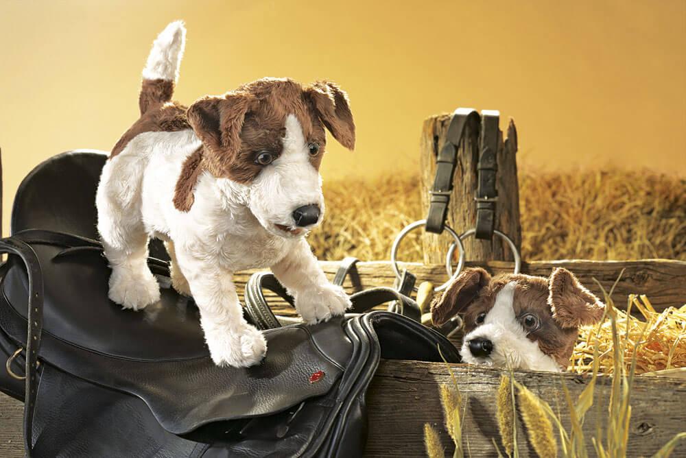 Jack Russell Terrier 2848 Puppen & Zubehör Folkmanis  Handpuppe Hund