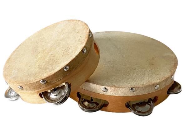 Tamburine-mit-Naturfell