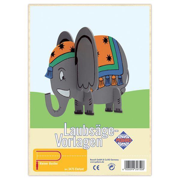 """Pebaro Laubsägevorlage """"Elefant"""""""