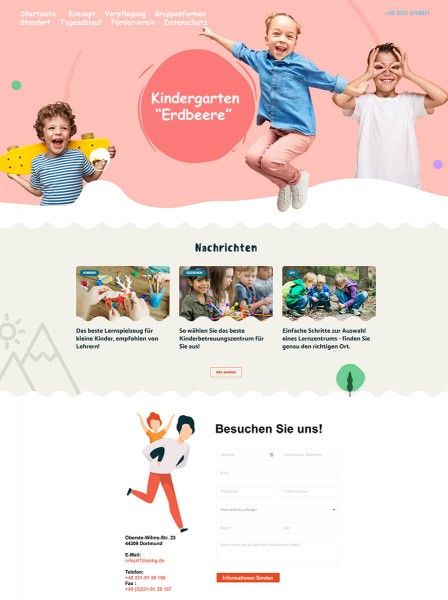 Webseite-Homepage-Kita