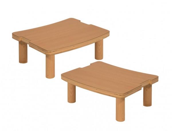 Fußbank 2-er Set aus Holz