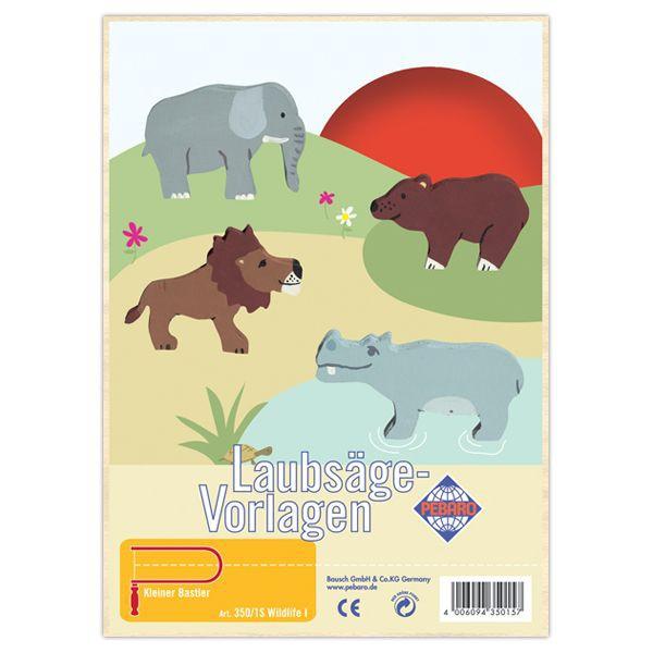"""Pebaro Laubsägevorlage """"Wildlife I"""""""