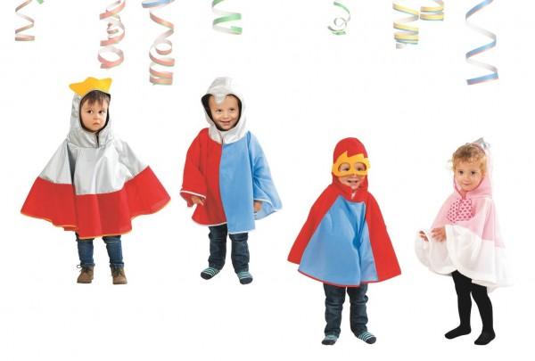 Kostüm-Umhänge für die ganz Kleinen, 4-tlg. Set
