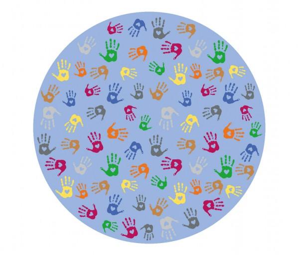 Spielteppich-Hände
