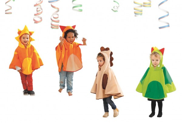 Kindercapes mit Kapuze, 4-tlg. Set