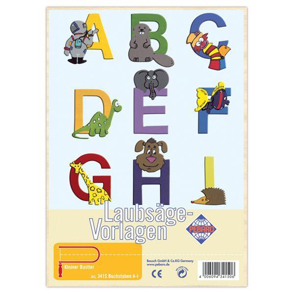 Pebaro-Laubsägevorlage-Buchstaben-A-I