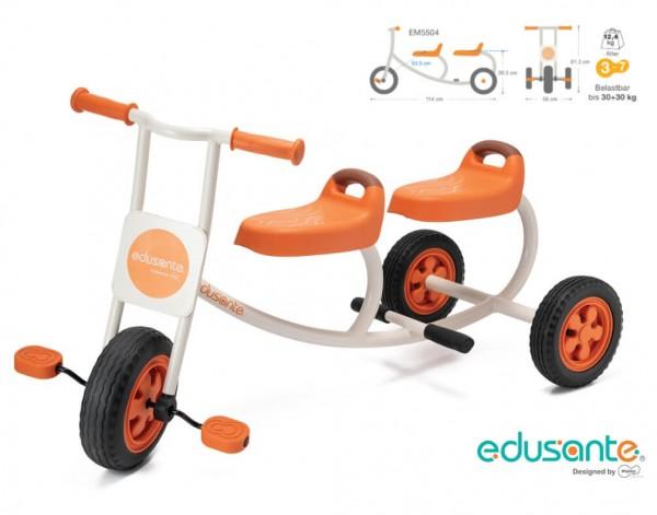 Edusante-Dreirad-für-2 Kinder-Taxi