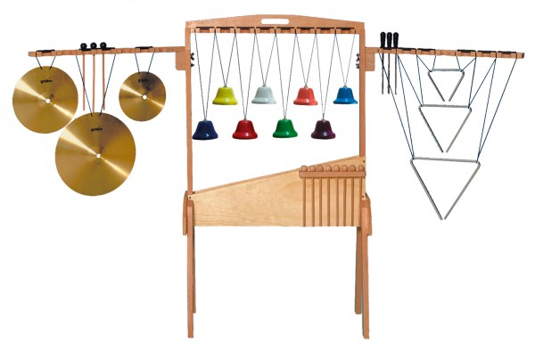Percussion-Set-mit-Stand