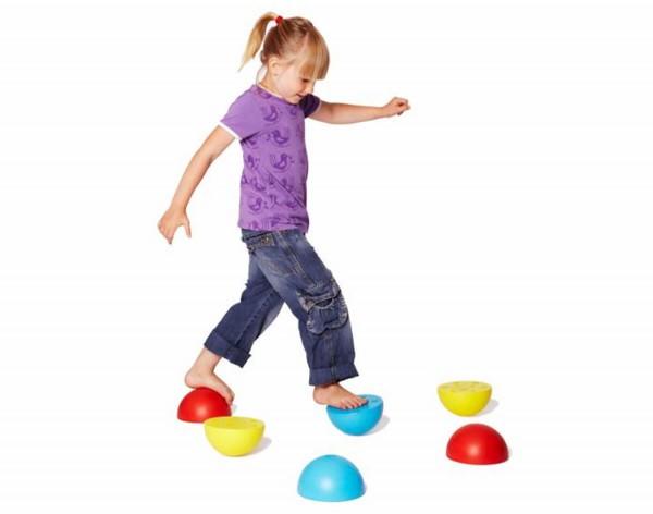 Kunststoffhalbkugeln-Gleichgewichtsübungen