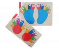 Lernpuzzle-Hände-Füße