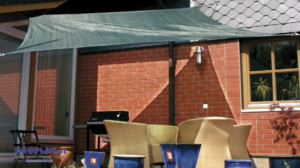 Sonnensegel aus HDPE-Gewebe, 90 % UV-Schutz