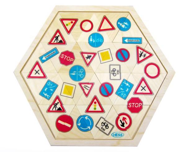 Legespiel-Verkehrszeichen