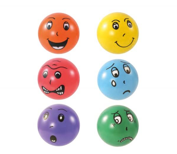 Emotionsbälle für Therapie und Spiel 6er Set
