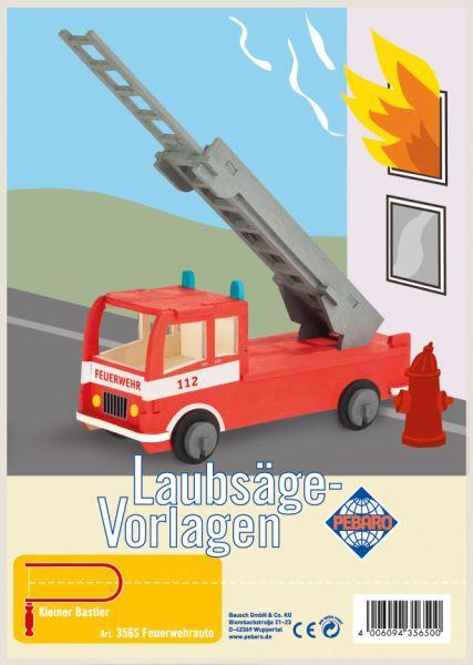 """Pebaro Laubsägevorlage """"Feuerwehrauto"""""""