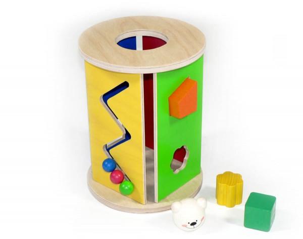Runde Steckbox mit verschiedene Öffnungen