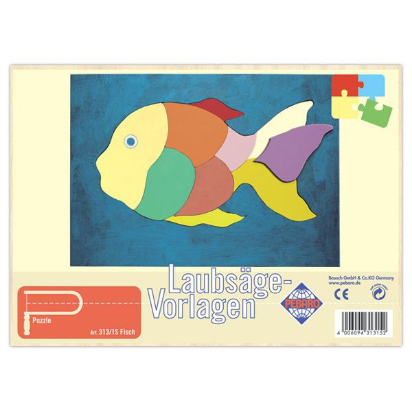"""Pebaro Laubsägevorlage """"Fisch"""""""