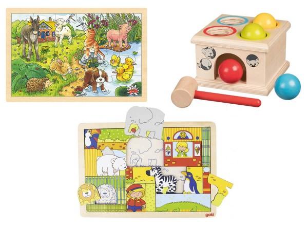 goki-Spielset-Klopfspiel-Holzpuzzle
