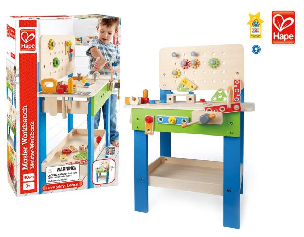 """Hape Werkbank für Kinder """"Meister Werkbank"""" 35-tlg."""