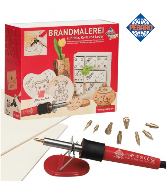 Pebaro Brandmal-Set inklusive Holzplatten