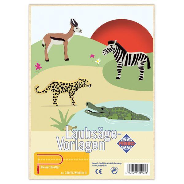 """Pebaro Laubsägevorlage """"Wildlife II"""""""
