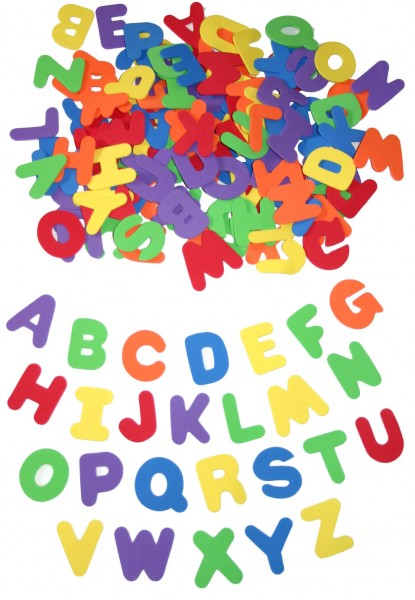 Moosgummi-Buchstaben