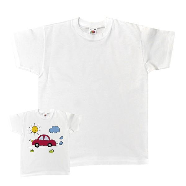 Baumwoll T-Shirt weiß, Gr. 128