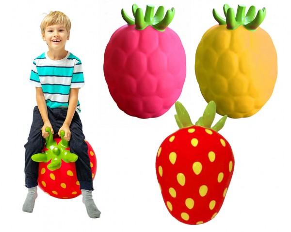 Huepfball-Erdbeere-Himbeere-Zitrone