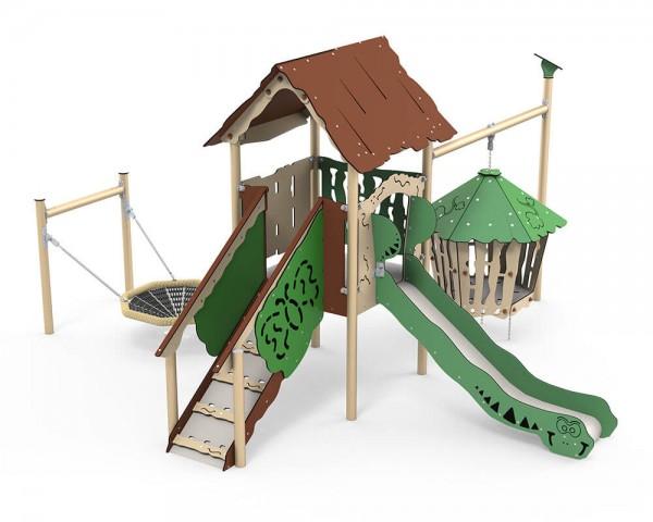 Spielanlage-mit-Spielhaus-und-Vogelnest-Hanok