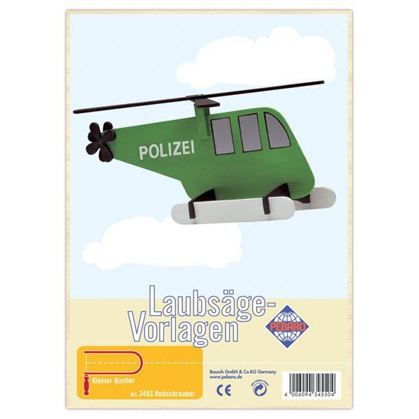 """Laubsägevorlage """"Hubschrauber"""" von Pebaro"""