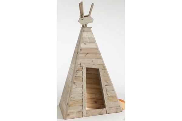 """Spielhaus mit Bodenplatte """"Indianerzelt kleiner Büffel"""""""