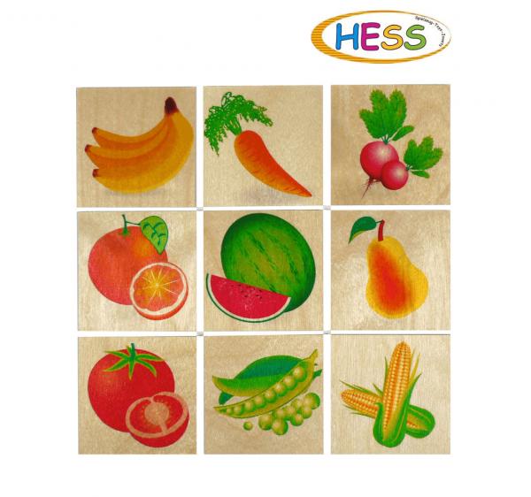 Memoryspiel-Obst-Gemüse