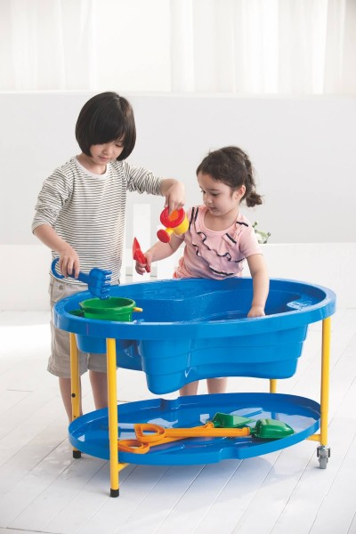 Sand- und Wasserspieltisch - Blau oder Transparent