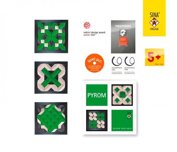 Geometrie Baukasten PYROM grün