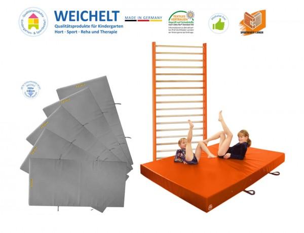 Sprossenwan-mit Weichboden-und-Fallschutzmatten