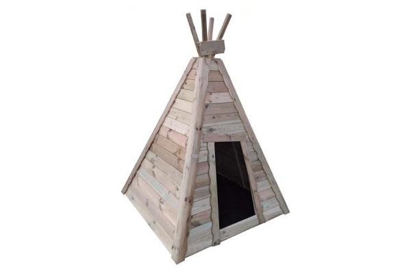 Spielhaus-mit-Bodenplatte-indianerzelt-Bison